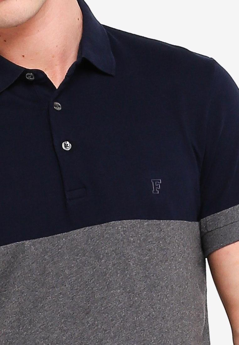 Charcoal French Shirt Connection Polo Yoke Marine Engineered Mel Classic Zw0ABB