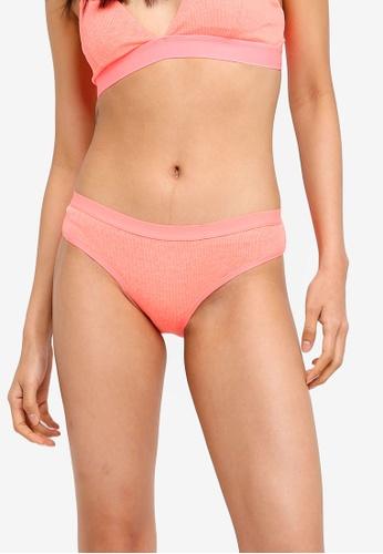 Cotton On Body orange Cotton Rib Cheeky Bikini Briefs 3EE6FUSE09D4A1GS_1