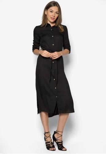 素色襯衫式洋裝, 服飾,zalora taiwan 時尚購物網 洋裝