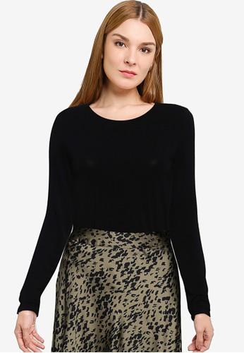 Vero Moda black Ana Long Sleeve Top DB196AAC18CCD5GS_1
