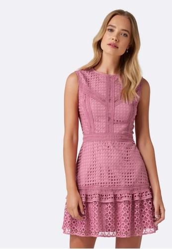 Forever New pink Meeka Frill Lace Mini Dress 203FFAA7E0D9E9GS_1