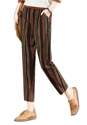 A-IN GIRLS multi Elastic Waist Stripe Trousers DC2C3AA2523133GS_1