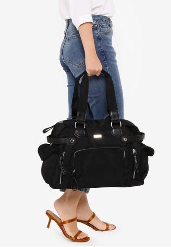 NUVEAU black Premium Nylon Convertible Shoulder Bag 5088AAC110EAF4GS_1