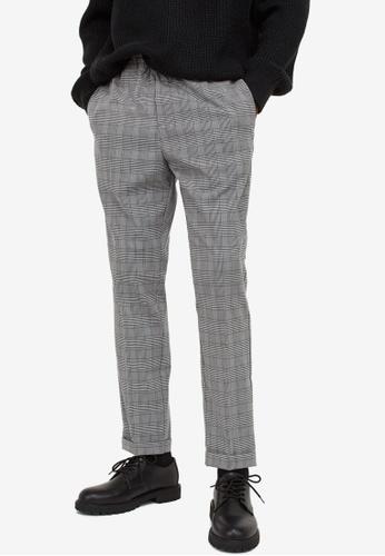 H&M grey Slim Fit Joggers B0E70AAB1F48F5GS_1