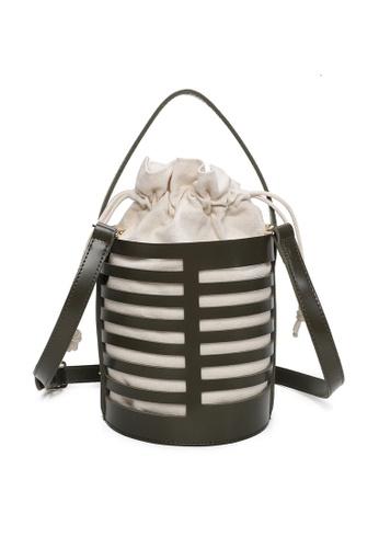 Milliot & Co. green Zenobia Top Handle Bag CBD71AC442F7D5GS_1