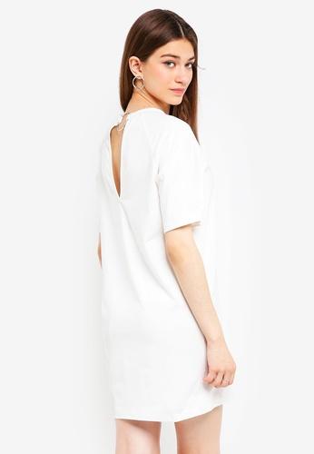 Something Borrowed white Back Detail Raglan Tee Dress E8837AAA86C747GS_1