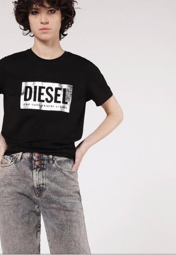 Diesel black T-Foil Tshirt 39AF9AA7EE3D24GS_1