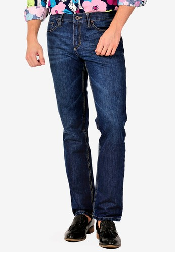 SJO & SIMPAPLY blue SIMPAPLY's Centrin Dark Blue Men's Jeans 3153BAA952F438GS_1