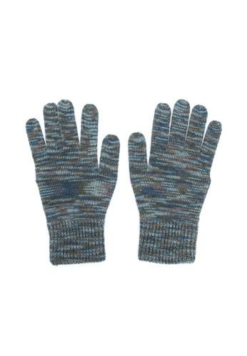 藏式條紋觸控手套 - 墨綠(M), 飾品配件esprit旗艦店, 手套