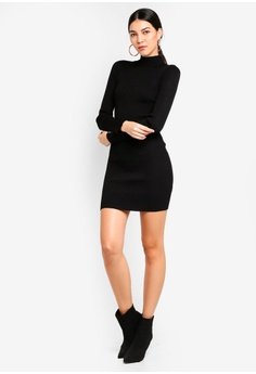 332d7b6f2b7 MISSGUIDED High Neck Knitted Mini Dress RM 129.00. Sizes 6 8 10 12 14