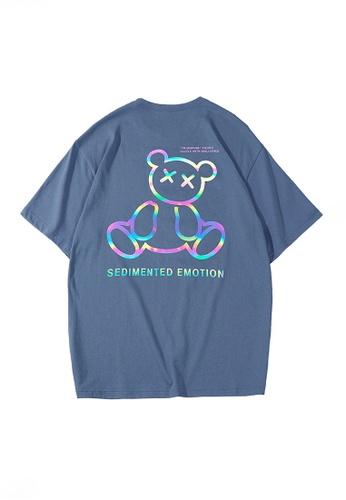 Twenty Eight Shoes blue VANSA Unisex Reflective Short Sleeve T-Shirt VCU-T1001 81394AA86B067AGS_1