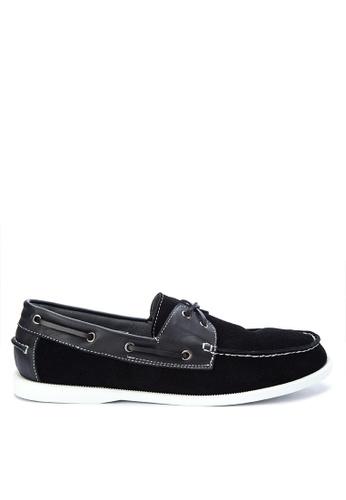Brogue & Derby black Fevo Boat Shoes BR611SH0KBFTPH_1