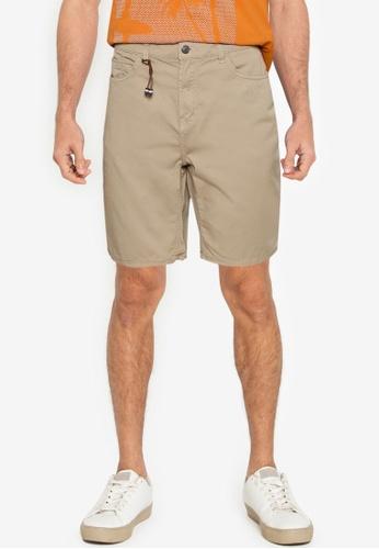 Springfield beige Washed Slim Fit 5-Pocket Bermuda Shorts E0887AAAB8F4D2GS_1