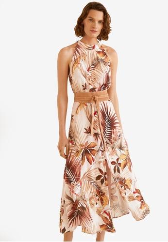 Mango white and multi Printed Long Dress 83A54AAB85A293GS_1