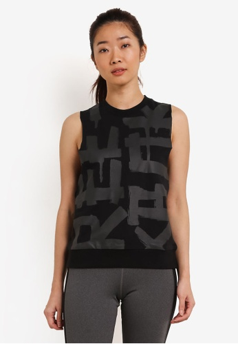 Reebok black French Terry Muscle Tee RE691AA0S8NCMY_1