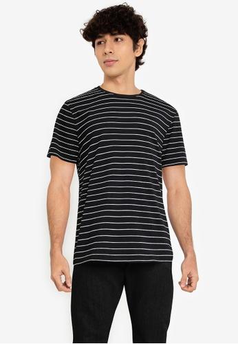 Fidelio black Signature Stripes Casual Tee 4724AAA3FF4ECEGS_1