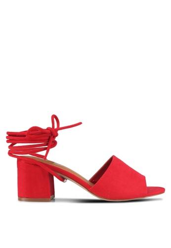Rubi red Tango Tie Up Mules 368A5SH7D1AC17GS_1