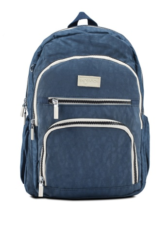 Shop Bagstationz Crinkled Nylon Backpack With Zebra Strap Online on ZALORA  Philippines fe3c7a2fd6f54