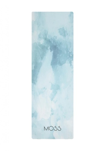 MOSSGOODS white and blue and multi MOSSGOODS Glacier 2-in-1 Yoga Mat 5C925SEC46B367GS_1