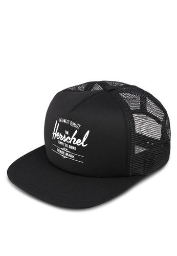Herschel black Whaler Mesh Cap AAF00ACEDC64A1GS_1