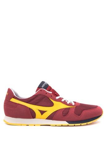 Mizuno red and yellow ML 87 Sneakers MI197SH39CMIPH_1