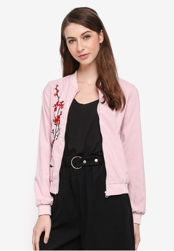 BYN pink Bomber Jacket with Embroidery 3DF76AAC7A3661GS_1