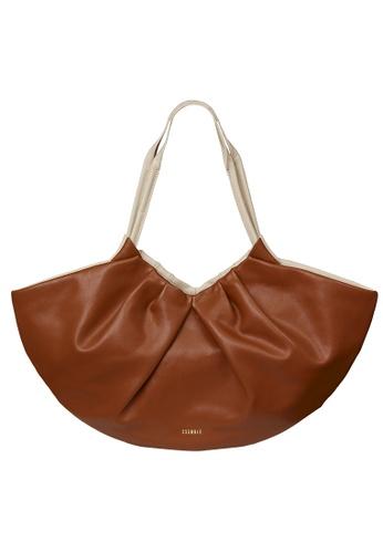 ESEMBLE brown Medium Lila Fan Tote - Caramel/Almond AB1EEACDDD0576GS_1
