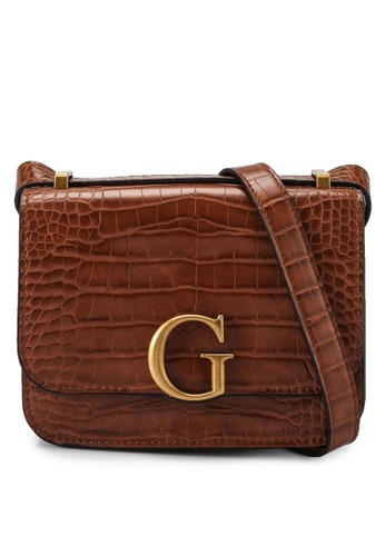 Guess brown Corily Convertible Crossbody Flap Bag C6A6FAC39020F7GS_1