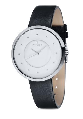 LAURENS 三指針皮革錶esprit taiwan, 錶類, 飾品配件