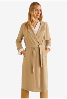 de6a32e2dff1 MANGO beige Classic Trench Coat With Bows 386AAAA28810B9GS 1