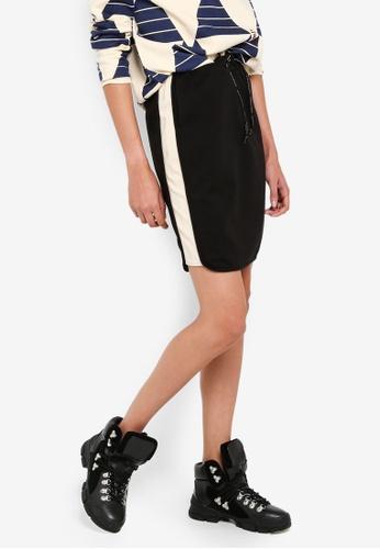 SCOTCH & SODA 黑色 撞色拼接裙 AEB77AA1201069GS_1