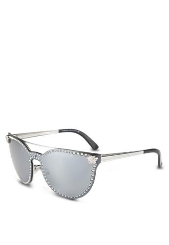 Versace silver Versace VE2177 Sunglasses VE417GL0RLXYMY_1