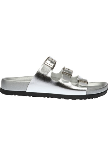 paperplanes silver SNRD-223 Casual Summer 3-Belts Slippers Sandals Shoes US Women Size PA355SH47QEASG_1
