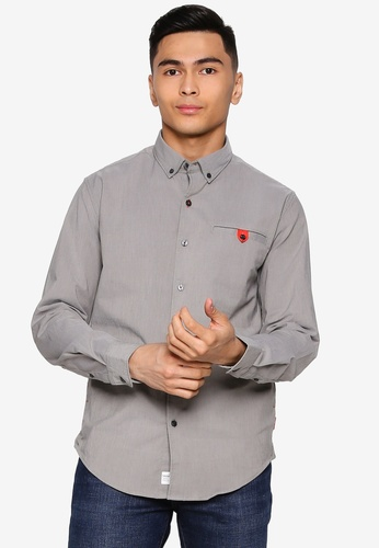 Timberland green Long Sleeves Oxford Commuter Shirt Slim With Outlast® Fabric B2BE4AA02CF361GS_1