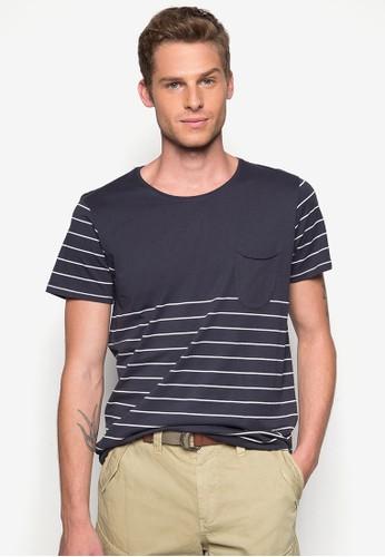 Marina 條紋口袋TEE, 服飾,esprit au T恤