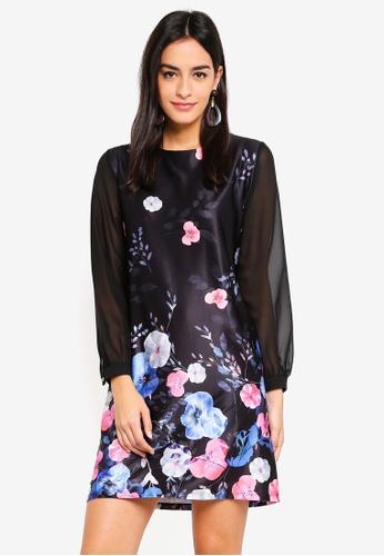 85f6aacaecc Dorothy Perkins black Black Long Sleeve Shift Dress 396D3AA817B29AGS 1