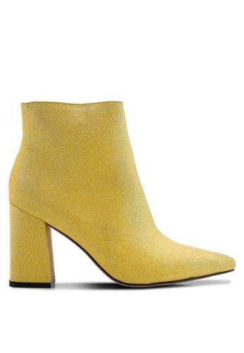 Public Desire 黃色 尖頭踝靴 D51B2SH072242EGS_1