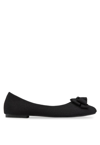 Mimosa black Pointy Flats With Bow MI013SH91YDSSG_1