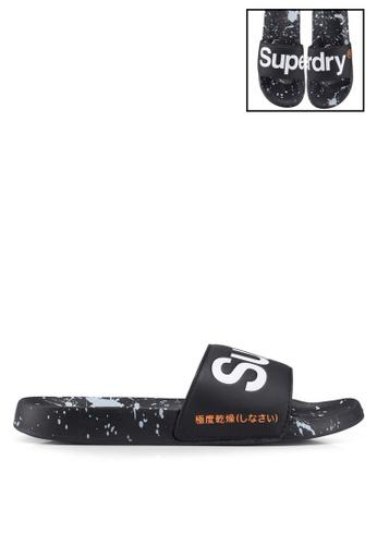 Superdry black Superdry Beach Slides 9B491SHFCF0973GS_1
