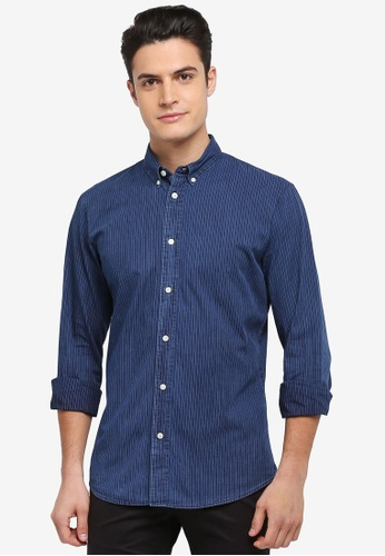 Selected Homme blue Onenola Shirt 8C2FEAAD944B44GS_1