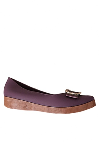 Twenty Eight Shoes 紫色 金屬飾扣果凍膠船跟雨鞋 VR818 C4789SHA7657F6GS_1