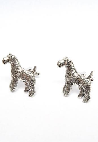 Splice Cufflinks English Made Fox Terrier Pewter Cufflinks SP744AC67GUESG_1