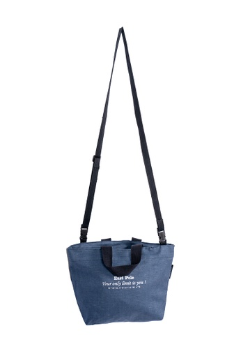 East Pole navy Unisex Two-way Crossbody small tote bag 93307ACEDECD8CGS_1