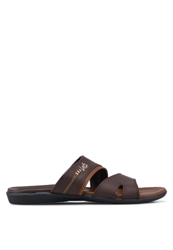 Louis Cuppers brown Paneled Sandals AA222SH7DD4ADBGS_1
