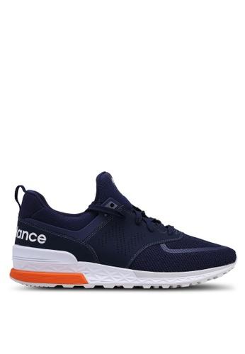 New Balance navy 574 Lifestyle Shoes 0DD88SHF7C917CGS_1
