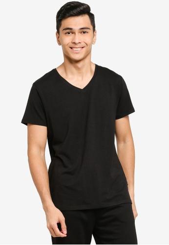 JBS of Denmark black Basic V-Neck T-Shirt DB44DAAAAFA903GS_1