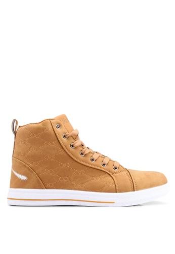 Rocklander brown Matarazo Hi-Top Sneakers EB5E1SH3496338GS_1