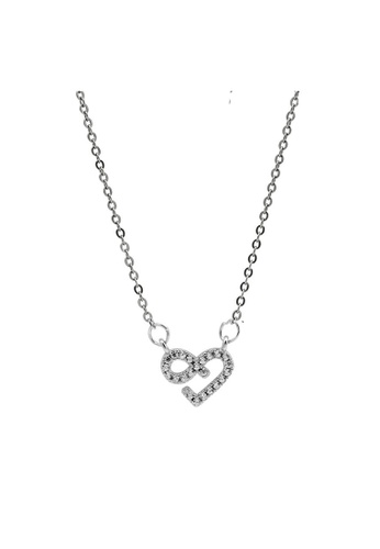 LYCKA silver LDR1246 S925 Silver Romantic Heart Necklace 40DBDAC91B7C56GS_1