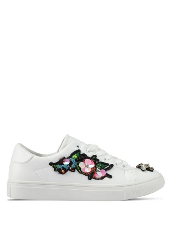 addicts anonymous white Zoey Bug And Flower Sneakers AD479SH0SVKWMY_1