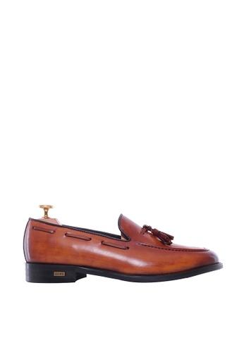 Zeve Shoes brown Zeve Shoes Tassel Loafer - Cognac Tan (Hand Painted Patina) 30844SH3C433C7GS_1
